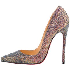 Christian Louboutin New Princess Glitter So Kate Heels Pumps in Box