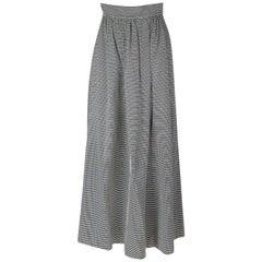 Saint Laurent Rive Gauche Striped Skirt with Back Pockets