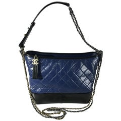 Chanel Black/Navy Gabrielle Large Hobo Bag New