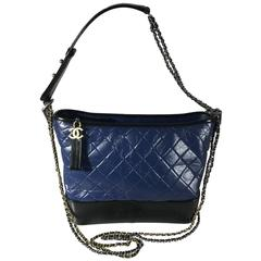 Chanel Black/Navy Gabrielle Large Hobo Bag New
