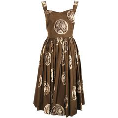 Dolce & Gabbana medallion printed cotton dress