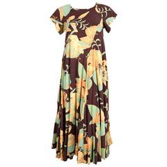 1970's BIBA cotton floral dress