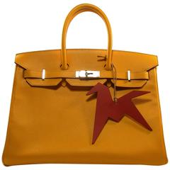 Hermes Birkin 35cm Bouton d'or Epsom leather and Palladium HW / BRAND NEW