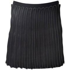 Acne Studios Black Zip Hardware Detail Short Skirt