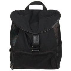 GUCCI Black Canvas & Mesh BACKPACK BAG
