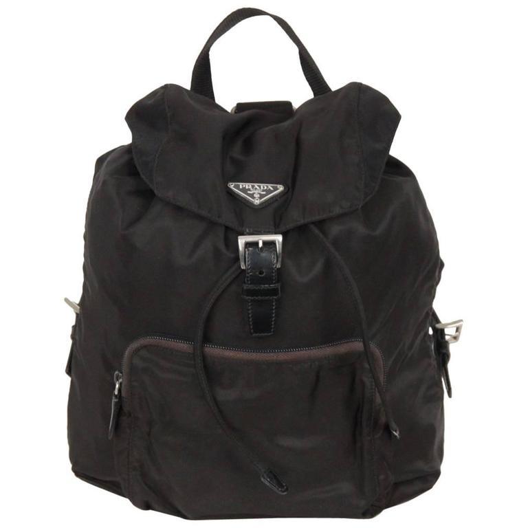 8398fca474595e PRADA Black Nylon Canvas BACKPACK BAG For Sale at 1stdibs