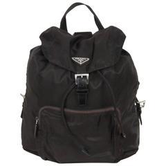 PRADA Black Nylon Canvas BACKPACK BAG