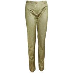Plein Sud Gold Metallic Pants