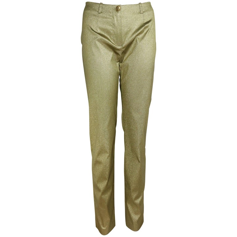 Plein Sud Gold Metallic Pants