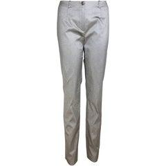 Plein Sud Silver Metallic Pants