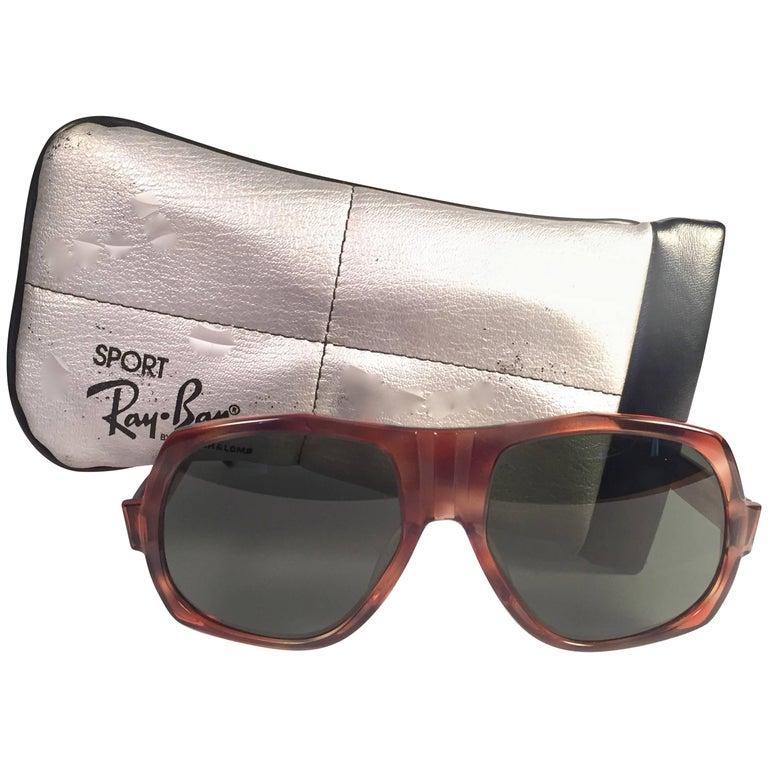 69e99bce33 New Vintage Ray Ban B L BradshawTortoise G15 Grey Lenses Sunglasses USA For  Sale at 1stdibs