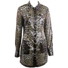 Plein Sud Leopard Print Belted Jacket