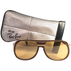 New Vintage Ray Ban B&L Timberline Ambermatic Mirror Lenses Sunglasses USA