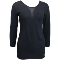 Chanel Black 3/4 Sleeves Top