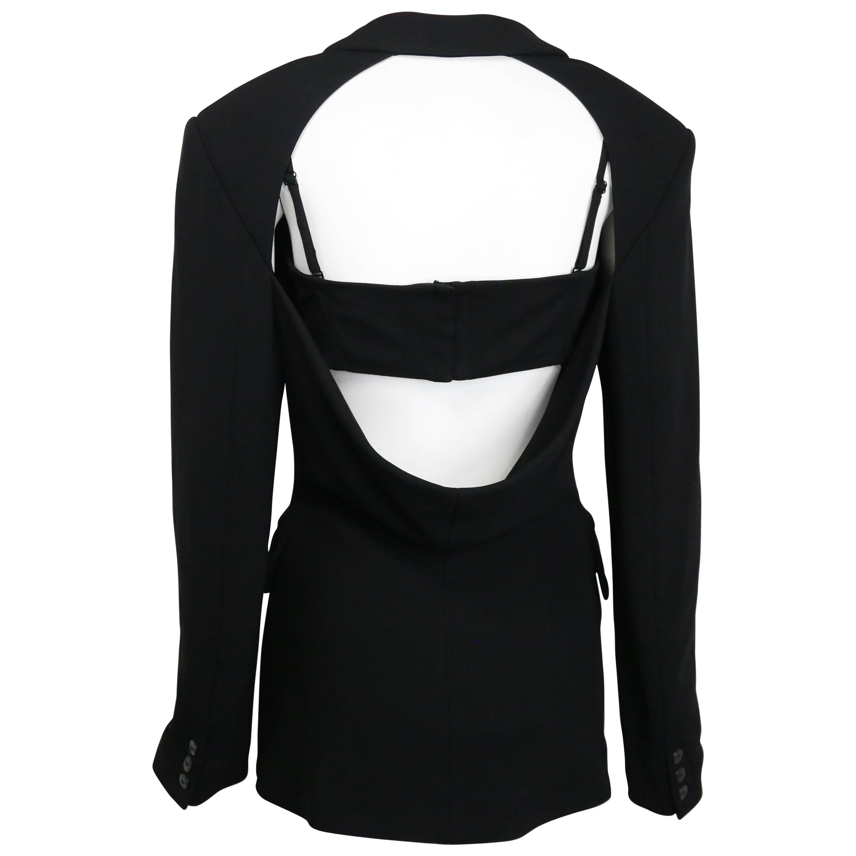 Plein Sud Black Open Back Jacket with Tube Top