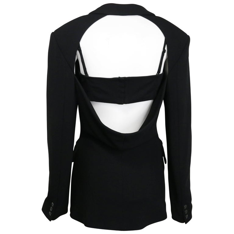 Plein Sud Black Open Back Jacket with Tube Top For Sale