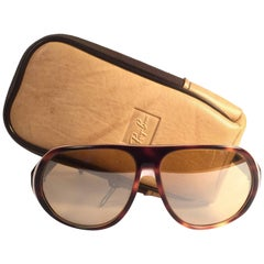 New Vintage Ray Ban B&L Blazer Ambermatic Mirror Lenses Sunglasses USA