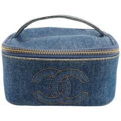 Chanel Denim Square Vanity Bag