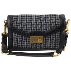 Prada Tweed and Leather Shoulder  Bag