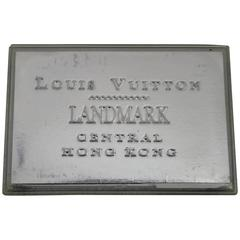 Rare and Collectible Louis Vuitton imited Edition Hong Kong Silver Cardholder