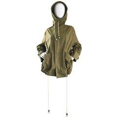 1990s Yohji Yamamoto Y's Unisex Army Green Hooded Vintage 90s Cargo Jacket