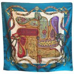 Hermes Vintage Festivals Silk Scarf