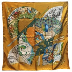 Hermes Vintage Brise de Charme Silk Scarf