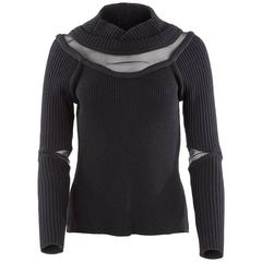 Undercover Fall 2009 Collection Rib Knit Pullover with Mesh Cutouts