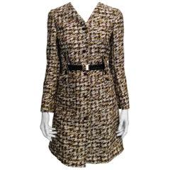 Louis Vuitton Yellow, Brown, Long Coat Size 34 EU