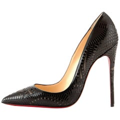 Christian Louboutin New Sold Out Black Patent So Kate Heels Pumps in Box