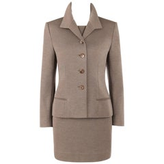 GIVENCHY Couture A/W 1998 ALEXANDER McQUEEN 2 Piece Wool Blazer Dress Suit Set