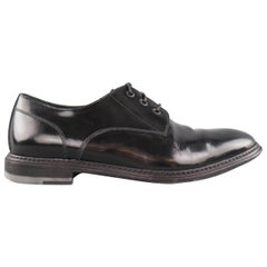 Men's MARC JACOBS Size 10 Black Patent Leather Lace Up Derbys