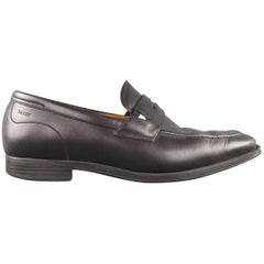 Men's BALLY Size 7.5 Black Leather Penny Loafers