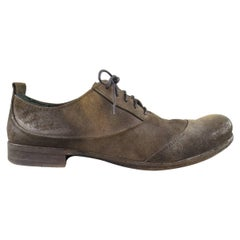 Men's MARSELL Size 10.5 Taupe Distressed Nubuck Lace Up