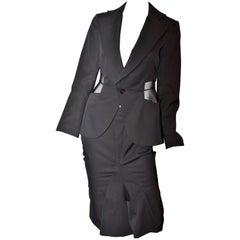 Comme des Garçons Junya Watanabe Skirt Jacket Suit See Through Panels 2001