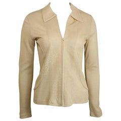 Comme Des Garcons Tricot Gold Metallic Track Jacket