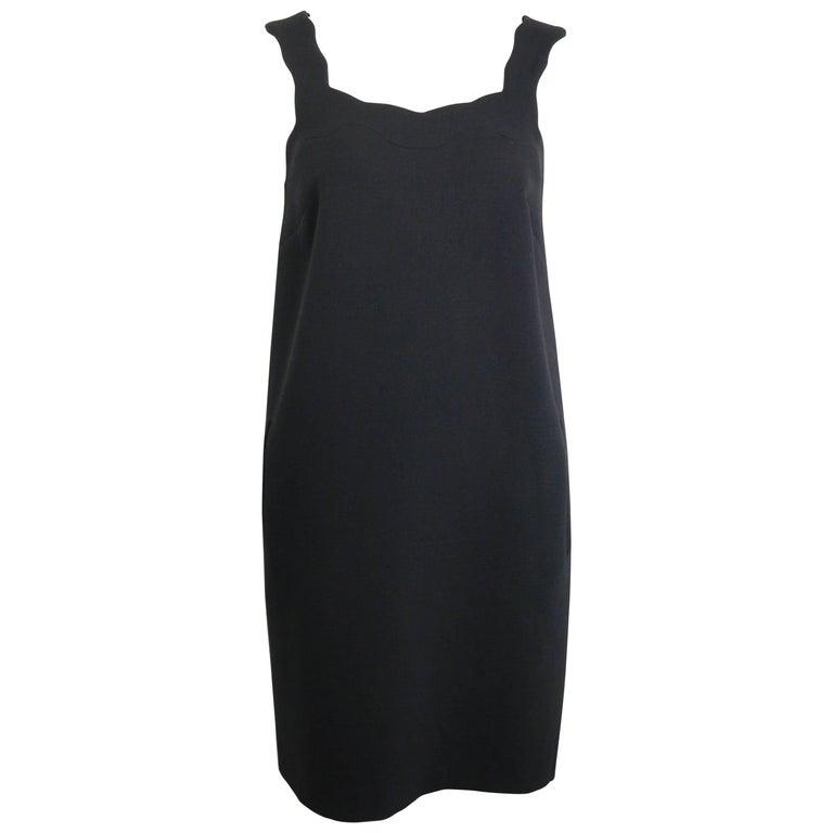 Christopher Kane Black Wool Dress