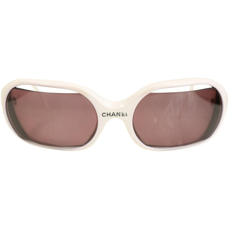 Chanel White Sunglasses  For Sale