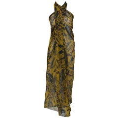 Hermès Authentic Jungle Print Silk Shawl Pareo sarong Scarf