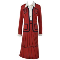 1970s ROBERTA di CAMERINO Trompe l'Oeil Jersey Dress