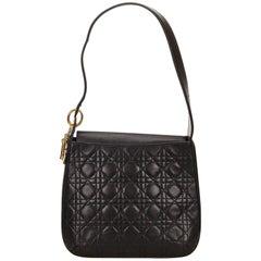 Dior Black Leather Cannage Shoulder Bag
