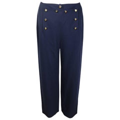 Chanel Navy Wool Pants