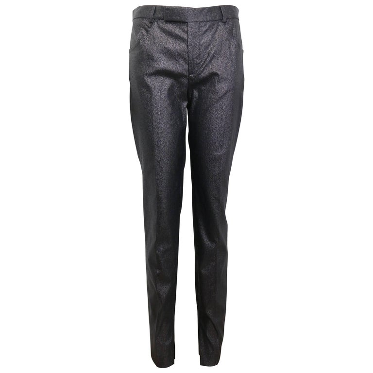 Tom Ford for Gucci Black Metallic Pants