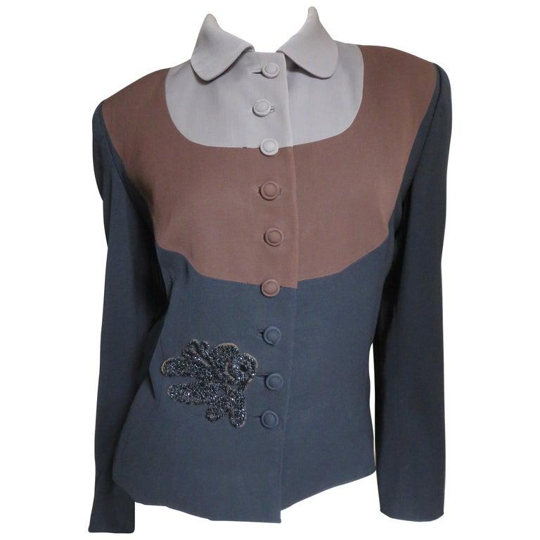 Eisenberg Originals 1950s Color Block Jacket For Sale