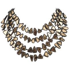 Talousel and mirror multi row necklace, Line Vautrin, 1960s