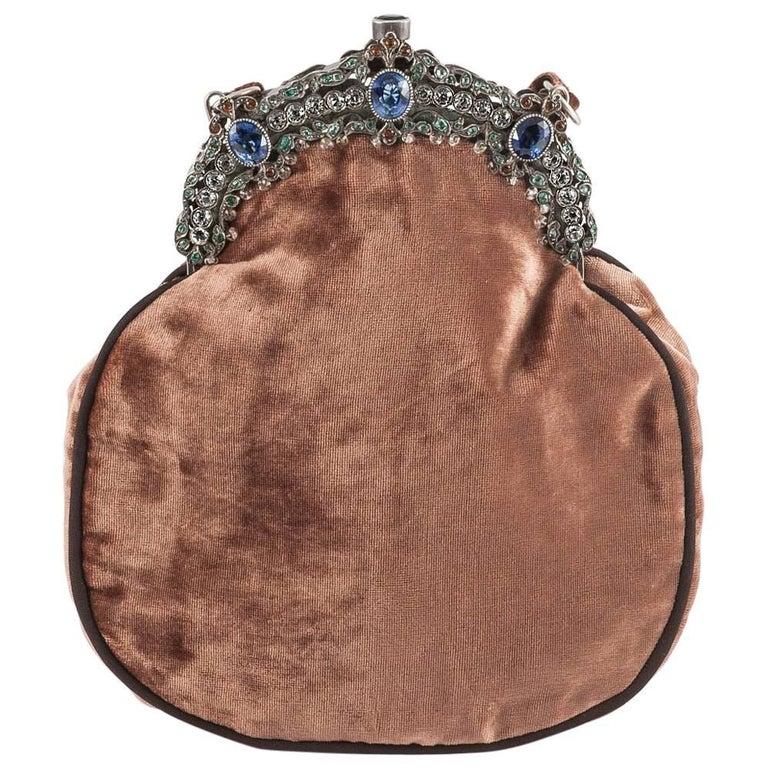 Jewelled framed velvet handbag, Italy, 1920s