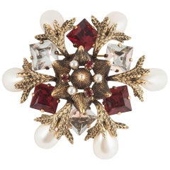 Beautiful jewelled 'snowflake' brooch, Christian Dior, 1964