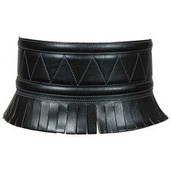 Iconic black leather 'gladiator' belt, Azzadine Alaia 1980s