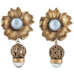 Lovely drop earrings, Joseff of Hollywood, 1950s