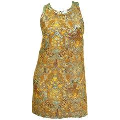 21st Century Barbara Bui Mint and Gold Jaquard Dress